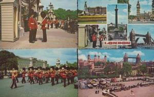 Changing The Guard Military + London Guided Tours 4x MINT 1970s Postcard s