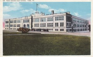 YORK, Pennsylvania, 1930-1940s; WM. Penn Senior High School