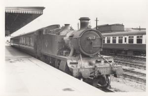 4117 Train At Taunton Station Somerset Vintage Railway Photo