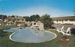 Fountain Pond, Exterior of Motel A La Claire Fontaine, Plessisville, Quebec, ...
