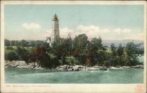 Lake Champlain NY Crown Point Lighthouse c1910 Detroit Publishing Postcard