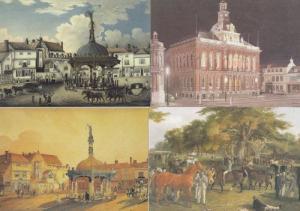 Ipswich Suffolk Show Cornhill Markets 4x 1980s Painting Postcard s