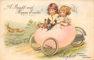Advertising Post Card Huylers Chocolate Happy Easter Unused