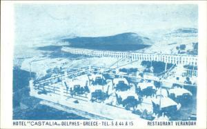Delphi? Delphes Greece Hotel Castalia Postcard