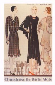 Postcard Nostalgia 1929 Britannia Fashion New Styles for Autumn Repro Card