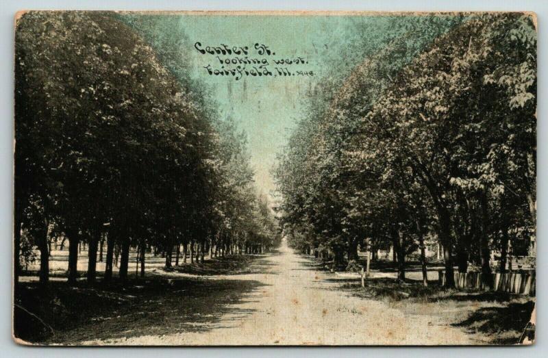 Fairfield Illinois~Center Street Looking East~Residential~1910 CU Williams PC