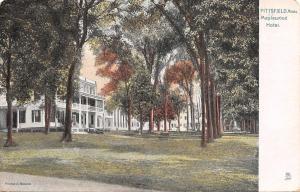 Pittsfield Massachusetts~Maplewood Hotel~Trees on Lawn~1910 Postcard~TUCK