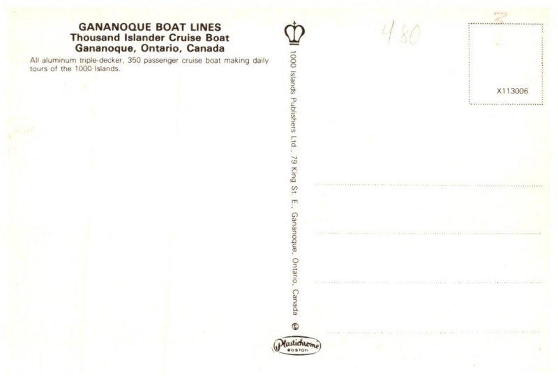 Canada  Gananoque ONT Thousand Islander Cruise Boat