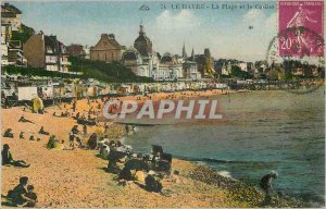 Old Postcard Le Havre The Beach and Casino