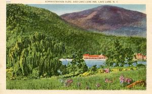 NC - Lake Lure, Administration Building & Lake Lure Inn