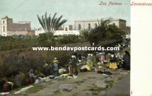 spain, Gran Canaria, LAS PALMAS, Lavanderas, Washing (1899)