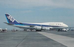 All Nippon Airways Boeing B-747-481 At Haneda Airport Tokyo Japan