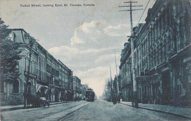 ST. THOMAS , Ontario , Canada, 1914; Talbot Street , Looking East; version 2