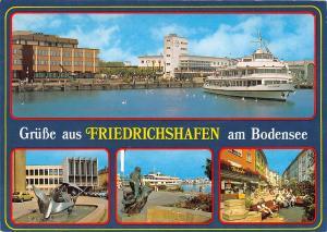GG13400 Gruesse aus Friedrichshafen am Bodensee Schiff Brunnen Statue