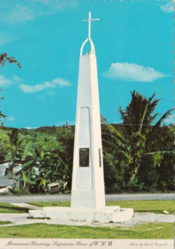 Saipan Monument Honoring Saipanese Heroes Of World War II