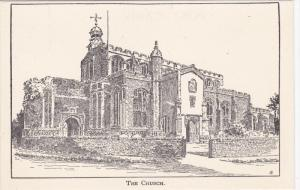Woodcut by Charles E. Flower, B. W. S.  - The Church 20-30s