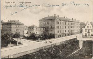 Speyer Germany Pionier Kaserne Military Barracks c1919 Postcard E38