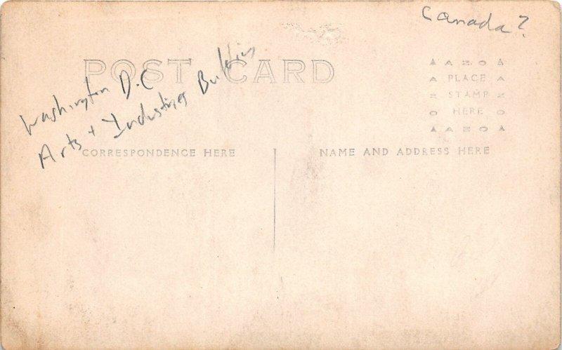 H78/ Washington D.C. RPPC Postcard c1910 Arts & Industries Building 166