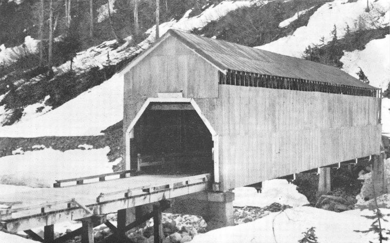 Hyder Alaska~Covered Bridge Across Texas Creek~1950s B&W Postcard