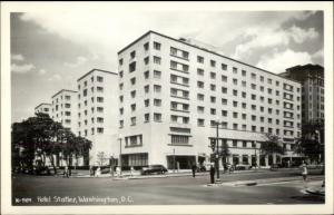 Washington DC Hotel Statler Real Photo Postcard