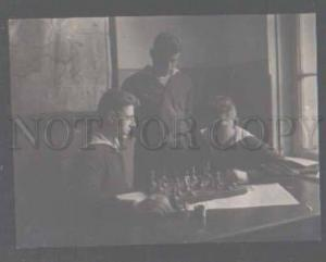 105166 RUSSIA seaman play CHESS Vintage photo