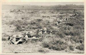 Military Dutch postcard Infanterie Schietkamp Harskamp Vurende Groep RPPC 3.30