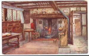 Ann Hathaway's Cottage, Interior early 1900s unused Postcard