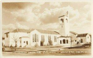 RP: MODESTO , California, 1940s ; First Methodist Church