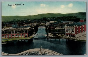 Postcard Venice CA c1912 Canal Aerial View Scenic Railway Roller Coaster Defunct
