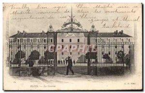 Old Postcard Blois Army Barracks