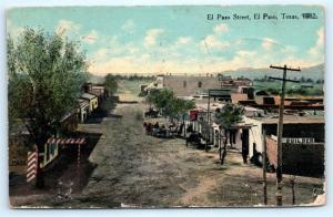 Postcard TX El Paso El Paso Street as Seen in 1882 1911 Card A08