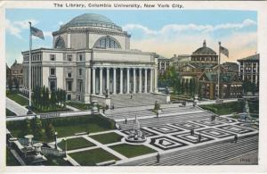 Columbia University, The Library ~ New York NY Vintage Postcard