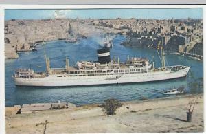 Shipping; SS Uganda In Valetta Harbour, Malta PPC 1963 PMK, To R Gundry, Epsom