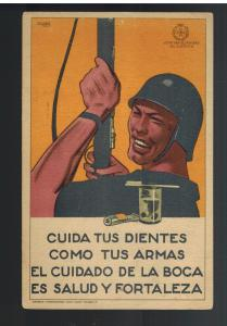 Mint Spain Civil War Postcard Republican Take Care of Your Teeth