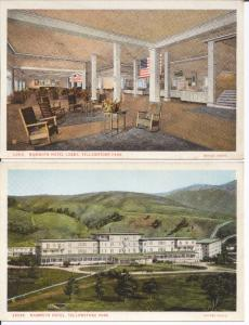 Yellowstone Park Mammoth Hotel 2 Vintage Haynes postcards