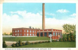 Napoleon Ohio~Napoleon Water Works And Electric Light Plant~1931 Linen Postcard