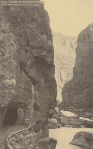 CODY , Wyoming, 00-10s ; View in Shoshone Canyon, Cody Road to Yellowstone Park