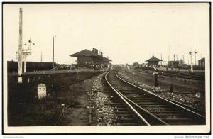china, CHIN-WANG TAO, QINHUANGDAO, Railway Station (1920s) RPPC Postcard
