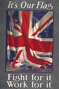 Vintage Poster Postcard, It's Our Flag, Fight for it, Work for it Union Jack 34L