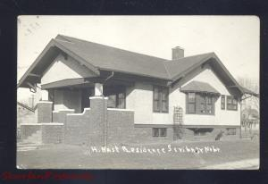 RPPC SCRIBNER NEBRASKA H NAST RESIDENCE HOUSE VINTAGE REAL PHOTO POSTCARD