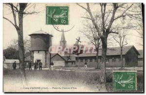 Postcard Old Camp & # 39Avord Place du Chateau d & # 39eau Army