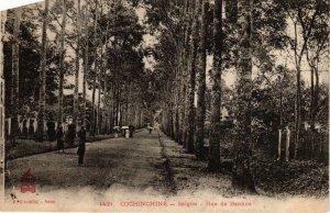 CPA AK INDOCHINA Cochinchine Rue de Bang-Kok VIETNAM (956607)