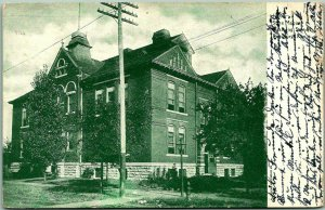 1908 Pittsburg, Kansas Postcard State Manual Training School Building View