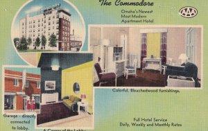 OMAHA, Nebraska, 1930-1940's; The Commodore Apartment Hotel