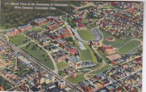 Ohio Cincinnati Aerial View Of Universsity Of Cincinnati Main Campus Curteich