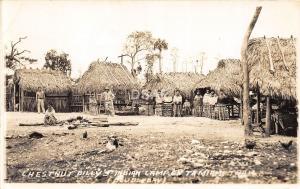 B11/ Tamiami Seminole Indian Florida Fl RPPC Postcard c30s Chestnut Billys Camp