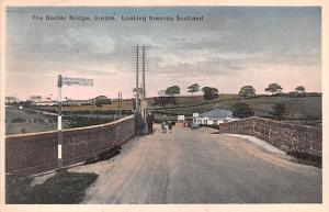 Scotland, UK Old Vintage Antique Post Card Border Bridge Gretna Unused