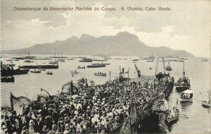 PC CPA CABO VERDE / CAPE VERDE S. VICENTE GOVERNADOR Vintage Postcard (b26736)