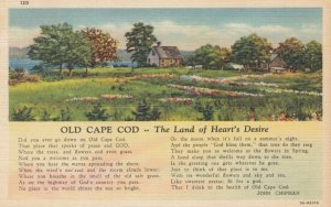 CAPE COD, Massachusetts, 1930-40s; Poem about Old Cape Cod - The Land of Hear...