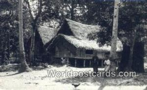 Malaya, Malaysia  Malay House Real Photo